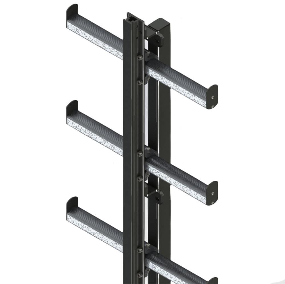 Жесткая анкерная линия (лестничный сегмент (со ступенями)