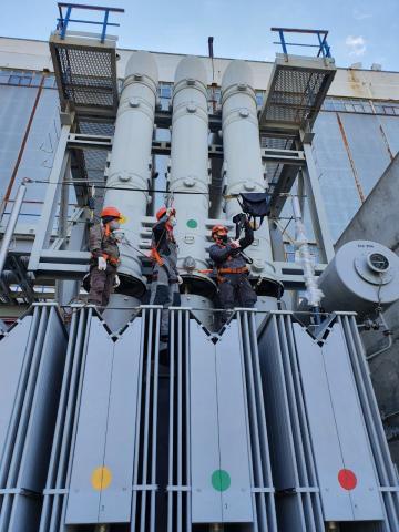 Оснащение рабочих зон трансформатора